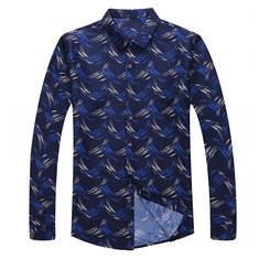 Comfy Stylish Wave Printed Shirt-US$19.29