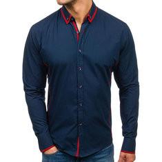 Stitching Buttons Slim Shirt -US$21.48