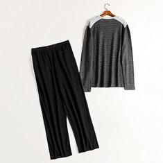 Patchwork Cotton Warm Patchwork Pajamas-US$29.99