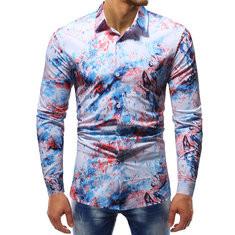 Watercolor Ink Printed Shirt for Men-YS$26.55