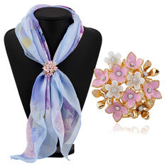 Flower Scarf Buckle Clothing Jewelry-US$8.90
