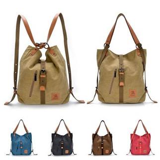 Women Multifunctional Leather Shoulder Bags Backpack-US$28.66