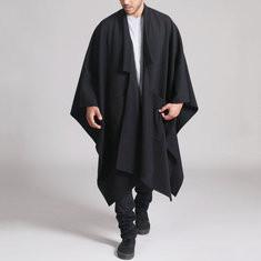 Mid Long Style Irregular Hem Cloak-$30.88
