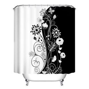 150*180/180*180 cm Black & White Flowers S -US$18.89