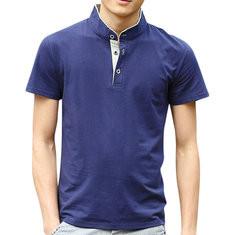 Business 95%Cotton Breathable Patchwork Shirt-US$13.99