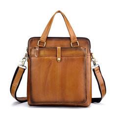 Men Genuine Leather Brush Color Business Handbag-US$79.88