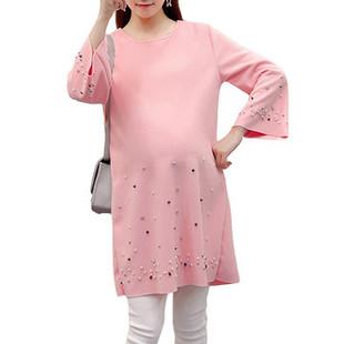 Long Sleeve Maternity Women Mini Dress -US$20.65