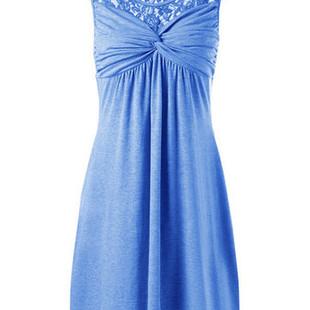 Sleeveless Lace Strapless Dresses -US$22.25