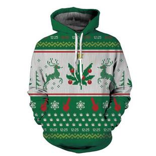 Christmas Warmer Deer Printed Hoodies