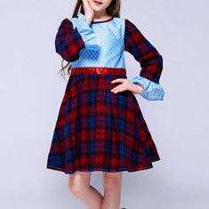 Girls Plaid Print Dress For 2Y-9Y-US$141.40