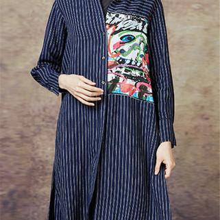 RM127.47 -Print Striped Button Down Shirt