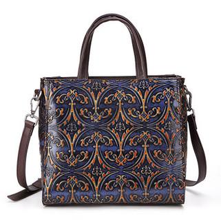Women Genuine Leather Retro Embossing Ha -US$63.85