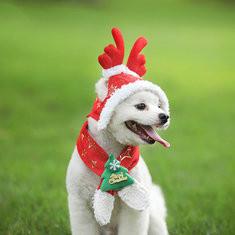 Christmas Pet Dog Hood Scarf Costume-US$11.75