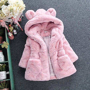 Girls Kids Hooded Thick Winter Coats For 2Y-11Y -US$35.99