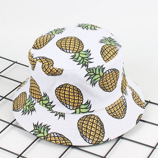 Women Banana Pineapple Printed Bucket Hats -RM39.43