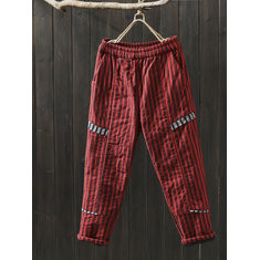 Striped Thick Cotton Pants -RM188.74