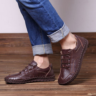 Large Size Men Hand Stitching Leather Shoes -US$55.30
