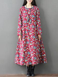 Floral Print Vintage Dress -US$54.99