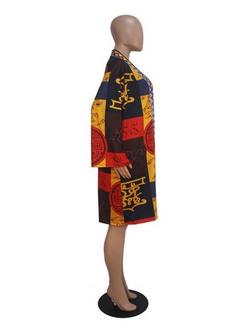 Women's Coat Fashion Colorblock Open Front -RM105.43