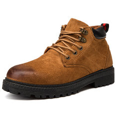 Men Retro Color Leather Casual Outdoor Boots-RM184.07