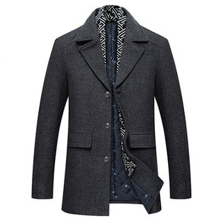 RM279.94-Mid-Length Thickened Warm Trench Coat