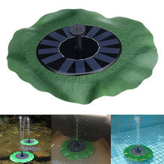 Floating Lotus-Shaped Solar Powered Water Pump-US$17.49
