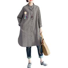 Cartoon Printed Long Sleeved Cotton Cardigan-RM176.10