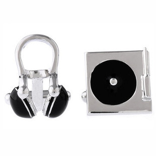 Exquisite CD Headse Cufflinks -US$9.60