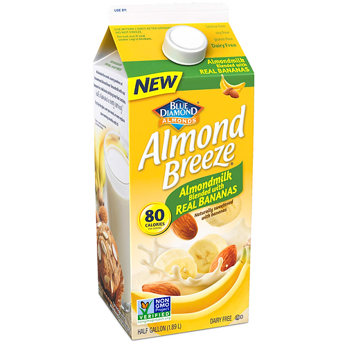 ALMOND BREEZE WITH REAL BANANAS