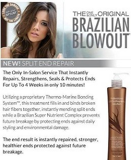 Brazilian Blowout Split End Repair