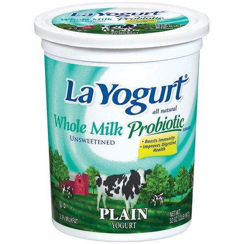 LA YOGURT PLAIN WHOLE MILK