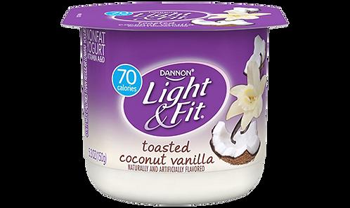 DANNON LIGHT & FIT TOASTED COCONUT VANILLA