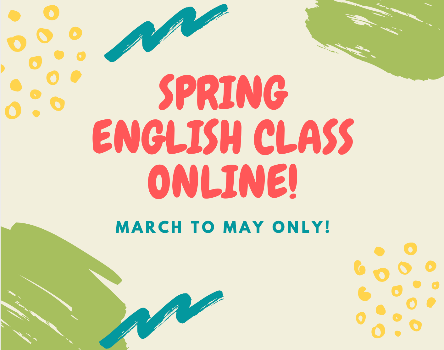 """SPRING ENGLISH CLASS ONLINE """"CHILD"""""""