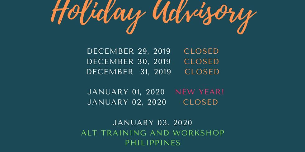 Holiday Advisory