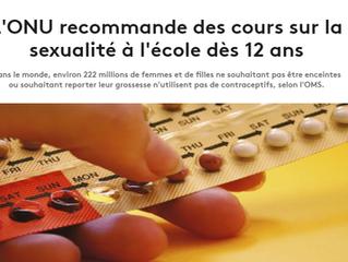Quand l'OMS recommandait l'éducation sexuelle à 12 ans...