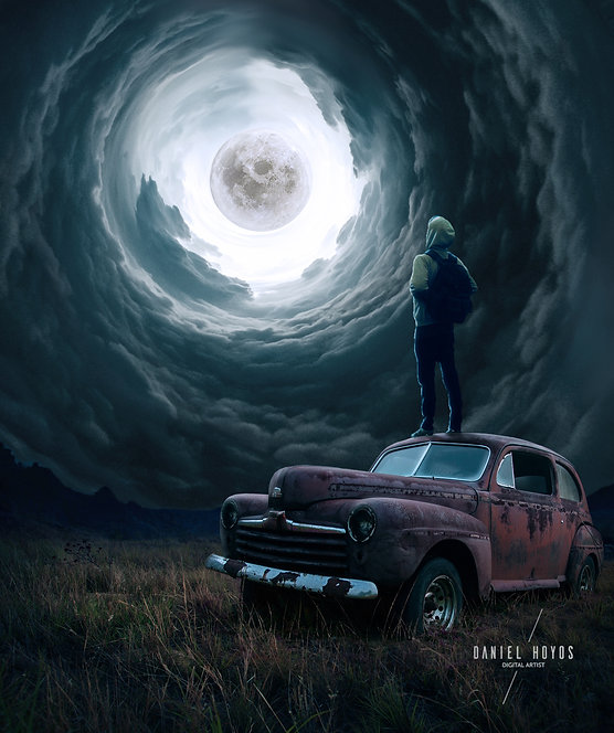 Through the moon portal