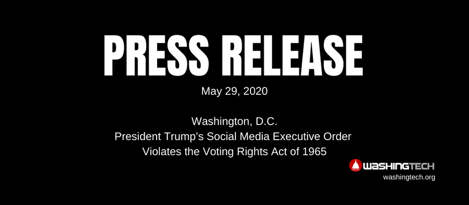 President Trump's Social Media Executive Order Violates the Voting Rights Act of 1965