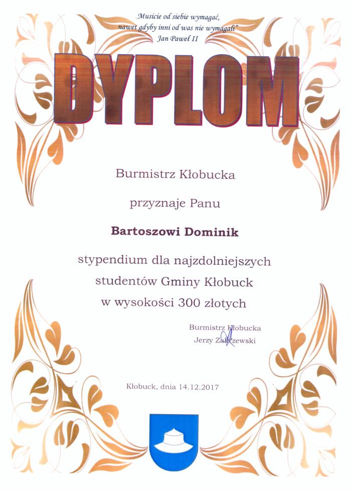 Stypendium dla najzdolniejszych studentów Gminy Kłobuck