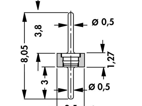 MK LP 41 スルーホールタイプ ピンヘッダー 2.54mmピッチ 低背型