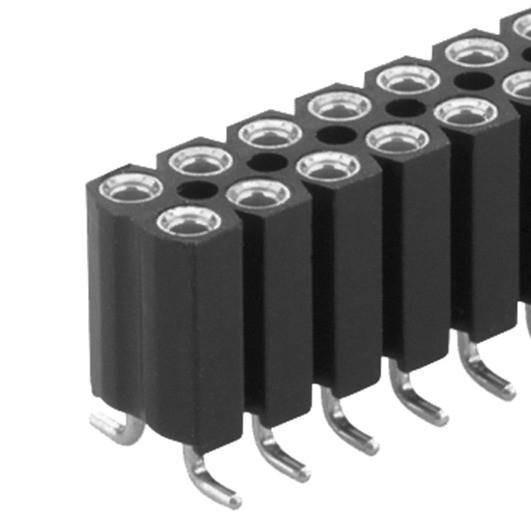 BL16 SMD 067 フィッシャー テープ&リール対応 表面実装用 連結ソケット 2列 2.54㎜ピッチ 4-40コンタクト