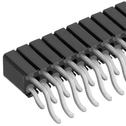 BL20 SMD フィッシャー テープ&リール対応 表面実装用連結ソケット 2列 ライトアングル 2.54㎜ピッチ 4-40コンタクト