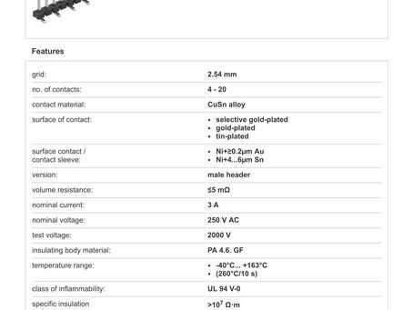 SL LP 5 SMD 038 フィッシャー テープ&リール対応 表面実装用 低背型 ピンヘッダ  2.54㎜ピッチ □0.635mm (1リール=250個巻)4-20ピン