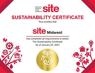 SITE Midwest Sustainability Certificate.