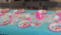 Décoration de table jump story anniversaire enfant perpignan parc de jeux enfant Maquillage 66 pyrénées orientales cabane yéti royal kids