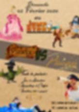 princesse vs pirate Jump Story parc de jeux enfants