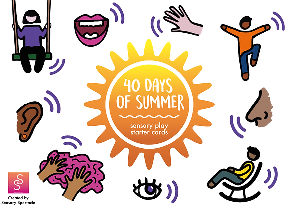 40 days - Sensory Play Starter Cards