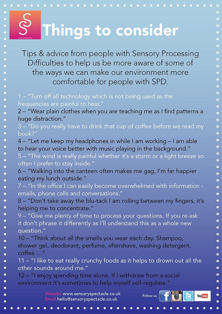 Tips and advice about sensory processing disorder - download