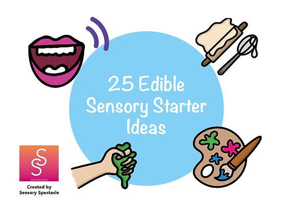 25 Edible - Sensory starter cards