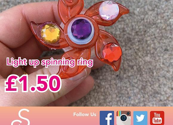 Spinning flashing ring