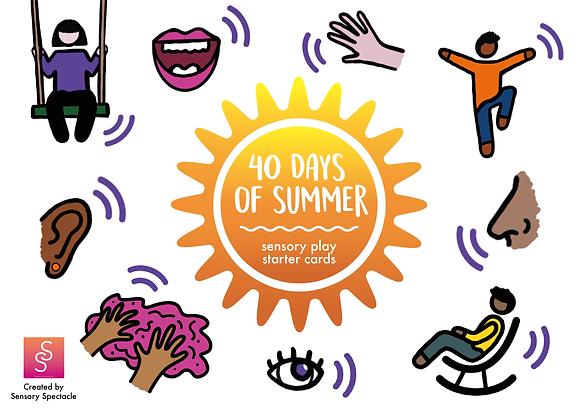 40 Sensory Play Starter Cards